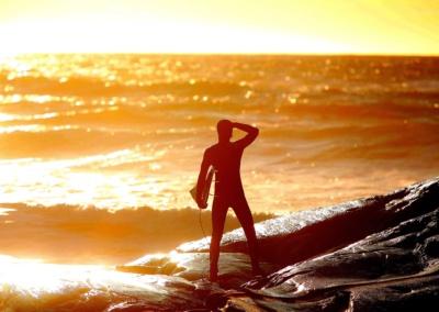 Surfing og kajakk på MølenFoto: Per-Åge Eriksen